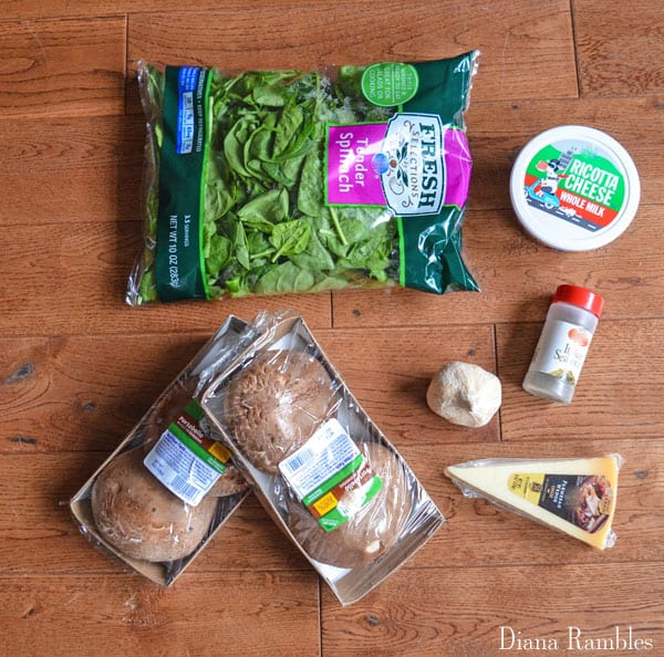 Ricotta Spinach Stuffed Mushroom Caps ingredients