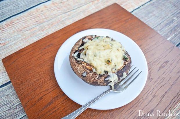 Ricotta Spinach Portobello Caps Stuffed Mushrooms Recipe