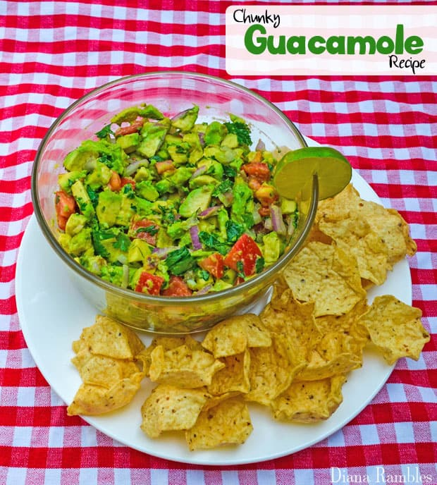 Chunky Avocado Guacamole Easy Recipe