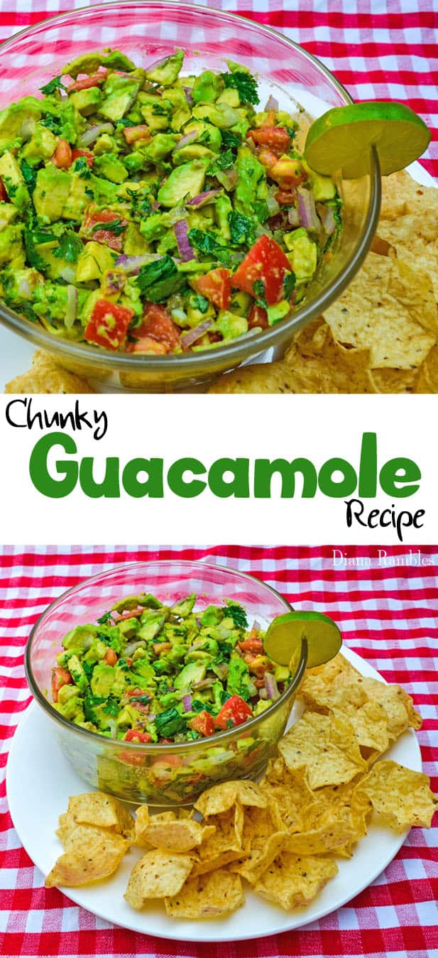 Easy Chunky Avocado Guacamole Recipe