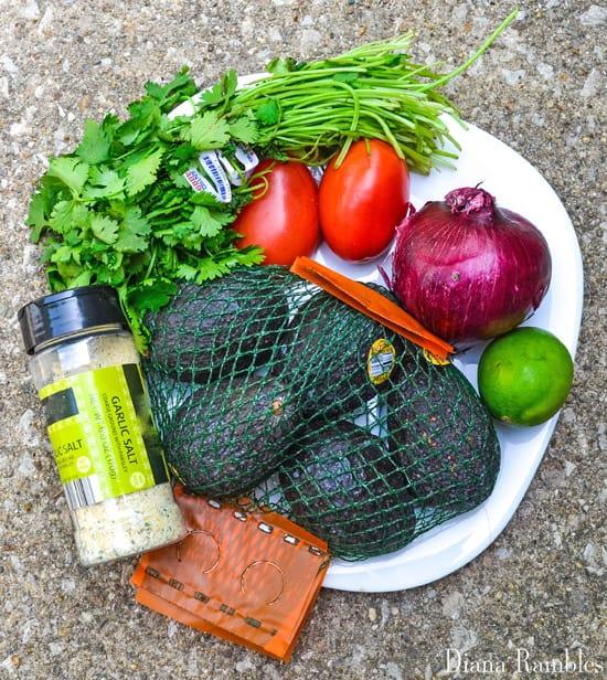 Easy Chunky Guacamole Recipe Ingredients