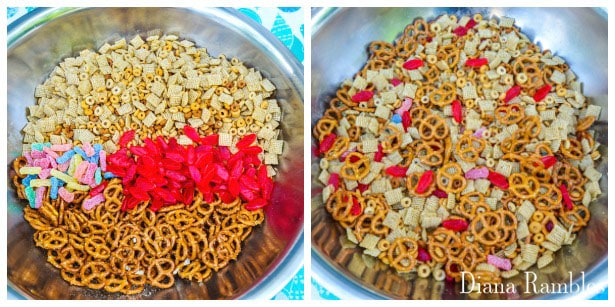 Sweet and Sour Snack Mix made with Swedish Fish and Sour Patch Kids Recipe