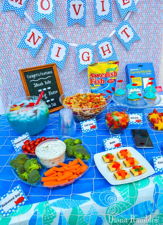 Under the Sea Family Movie Night Food Party