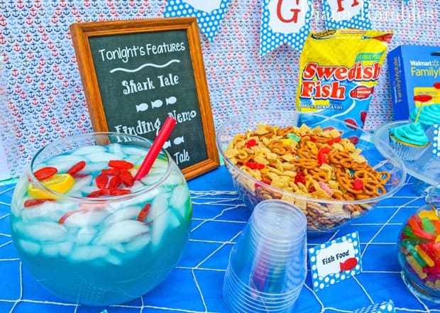 Under the Sea Family Movie Night Party Food Punch