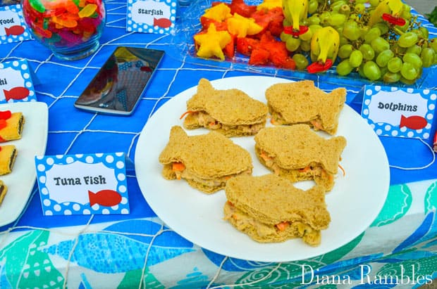 Under the Sea Family Movie Night Party Food Tuna Fish
