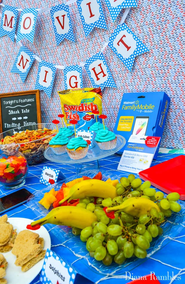 Under the Sea Family Movie Night Party Food Walmart Family Mobile