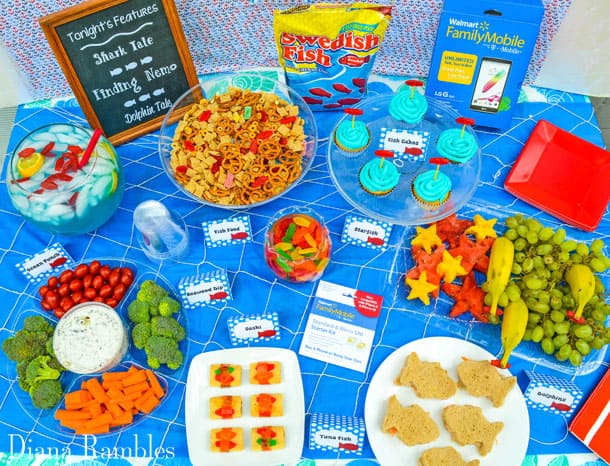Under the Sea Family Movie Night Party Food
