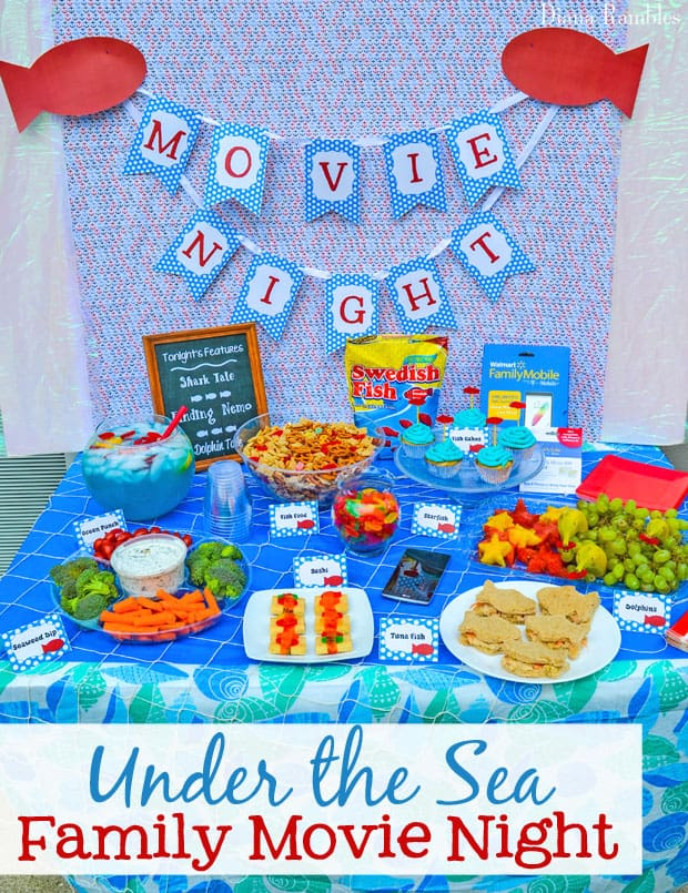 Under the Sea Family Movie Night Party