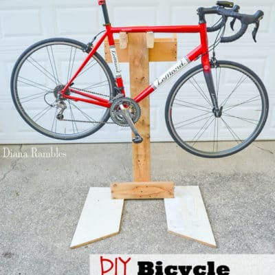DIY Bicycle Repair Stand from Scrap Wood