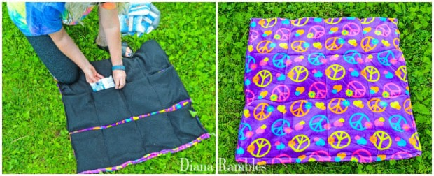 DIY Dog Summer Cool-Off Pad Tutorial Add Ice Packs