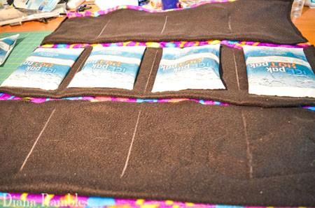 DIY Dog Summer Cool-Off Pad Tutorial Mark Sewing Lines