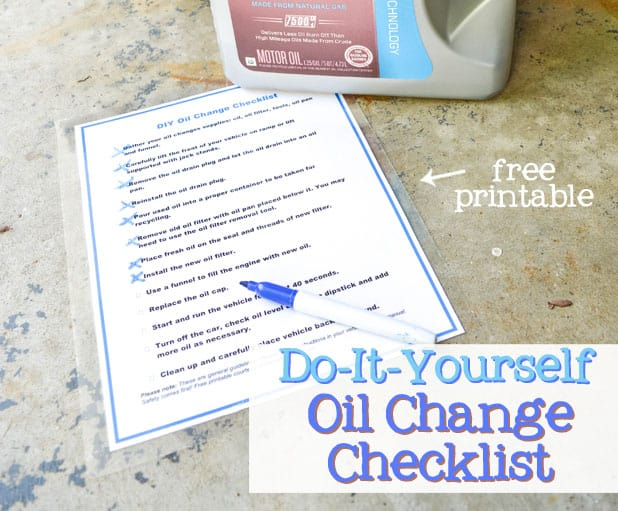 How to change your oil checklist free printable solutioingenieria Image collections