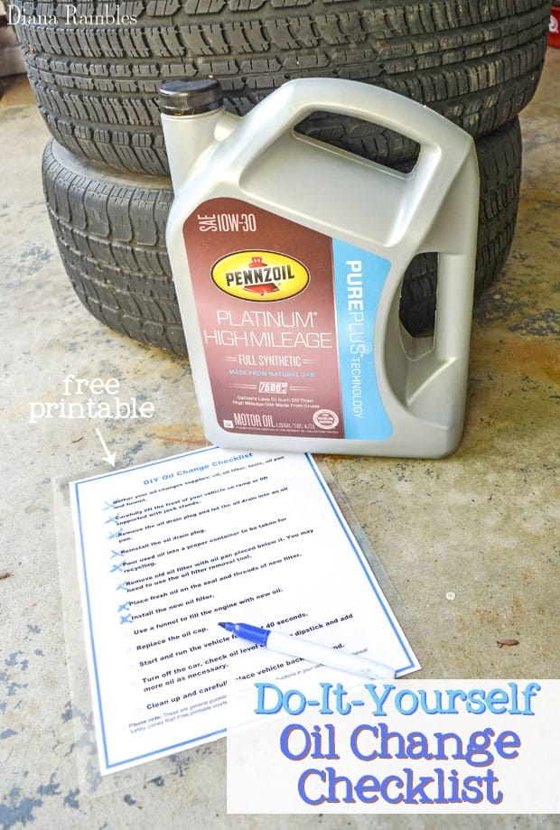 DIY Oil Change Checklist Directions Free Printable - Here is a free download printable checklist with directions for changing your own vehicle's oil. This step by step checklist makes the task easy.
