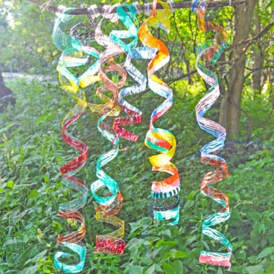 Water Bottle Craft Wind Spiral