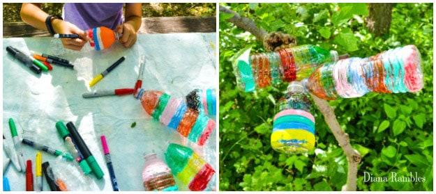 Water Bottle Wind Spiral Craft Tutorial Color Bottles