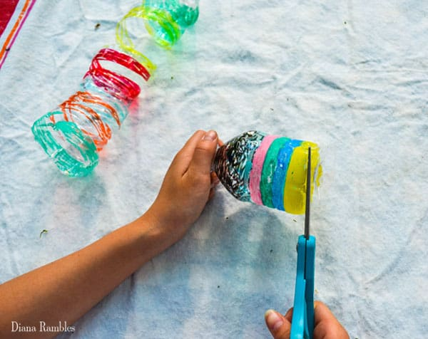 Water Bottle Wind Spiral Craft Tutorial Cut Bottle