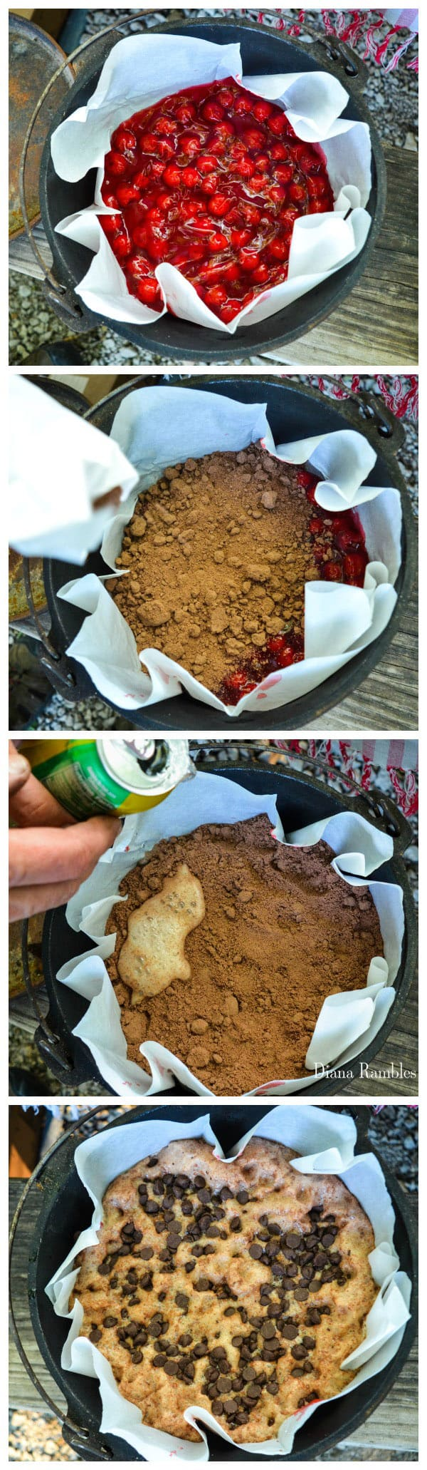 Chocolate Cherry Lava Cake Recipe Directions