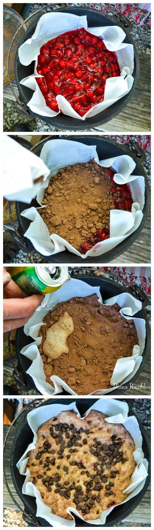 Chocolate Cherry Lava Cake Recipe Directions