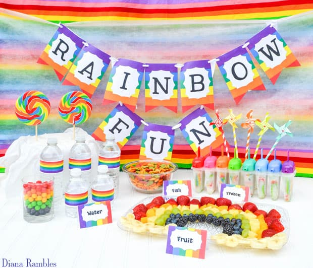 Rainbow Fun Tie-Dye Party Snacks