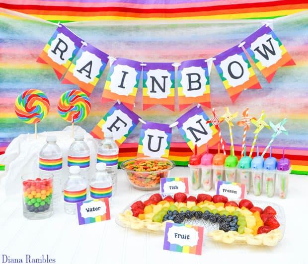 Rainbow Fun Tie-Dye Party Snacks