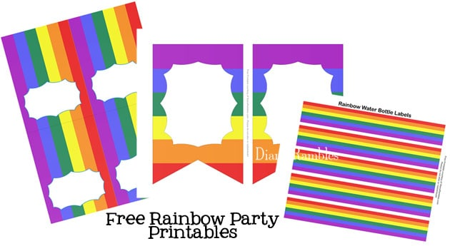 Rainbow Party Decor Free Printables