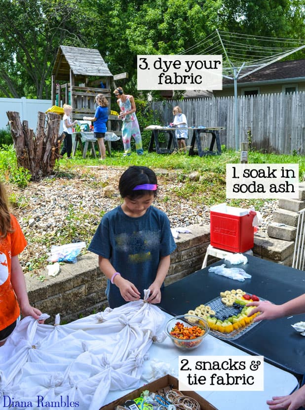 Tie-Dye Party with Kids Steps Tutorial