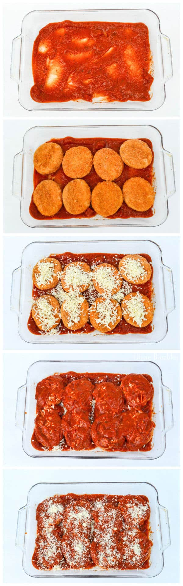 Chicken Patty Parmesan Recipe Directions