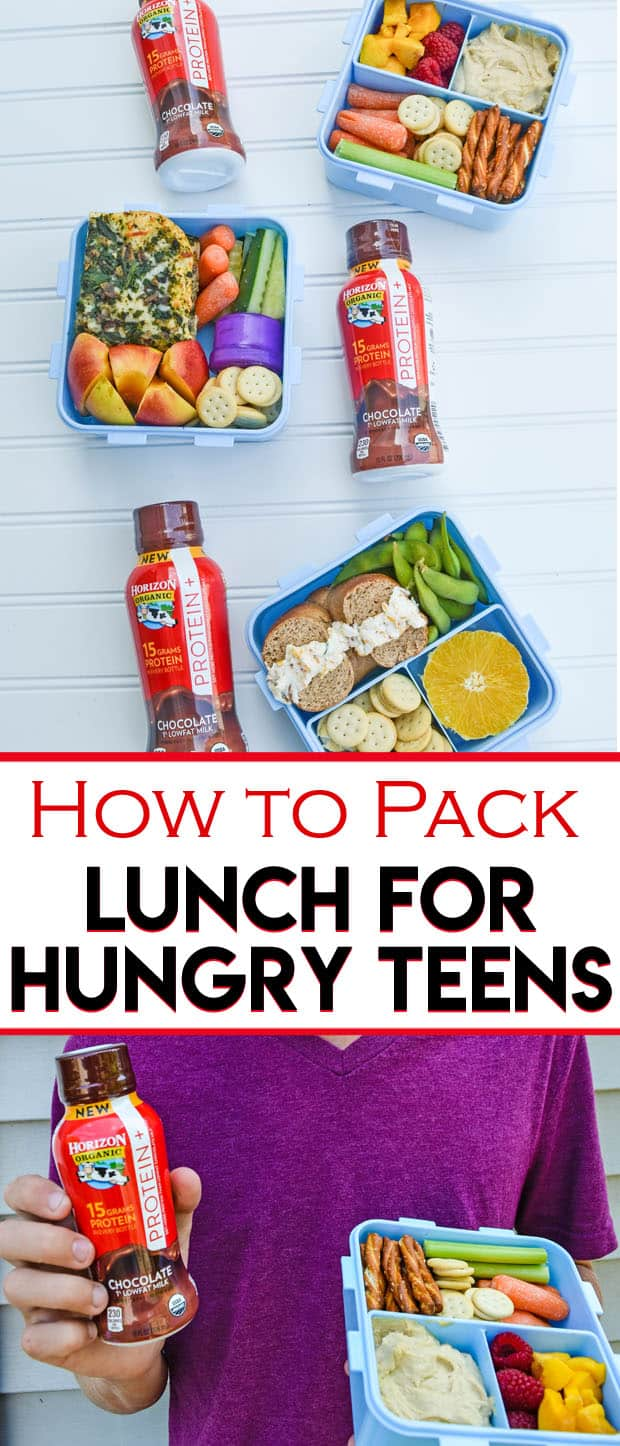 How to Pack Lunch for Hungry Teens - Need more food options for lunches? Here are tips on how to pack lunch for hungry teens. These tips are teen tested and approved and will help them power through their day!
