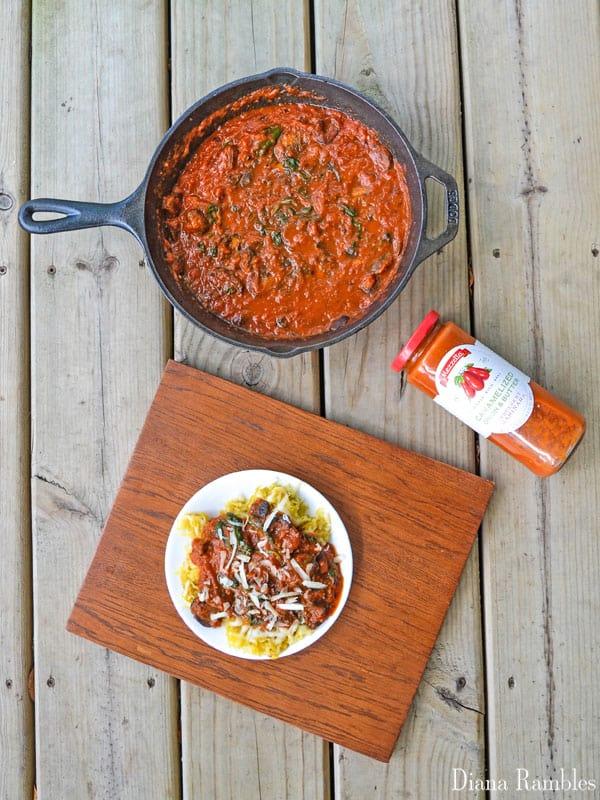 Spaghetti Squash Mushroom Mezzetta Marinara Sauce Recipe