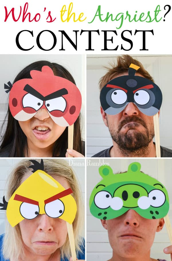 Who is the Angriest Contest - Throw an Angry Birds Party or family movie night with these recipes and free party decorations. These free party favors will help you throw the best party.