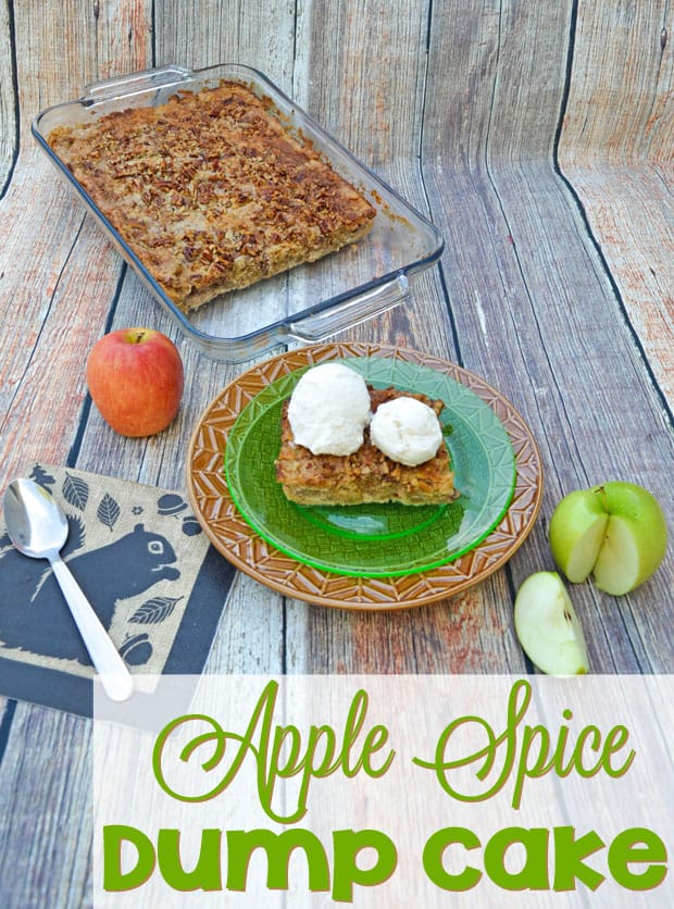 Apple Spice Dump Cake Recipe - This Apple Spice Dump Cake uses fresh apples and simple ingredients and tastes like fall with every bite!