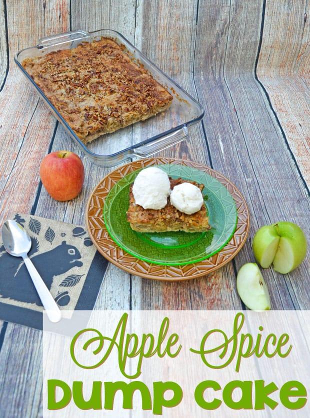 Apple Spice Dump Cake Tasty