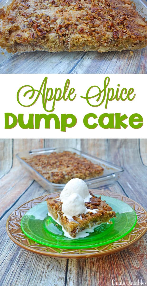 Apple Spice Dump Cake - This simple dump cake recipe made with fresh apples will have your guests asking for more!