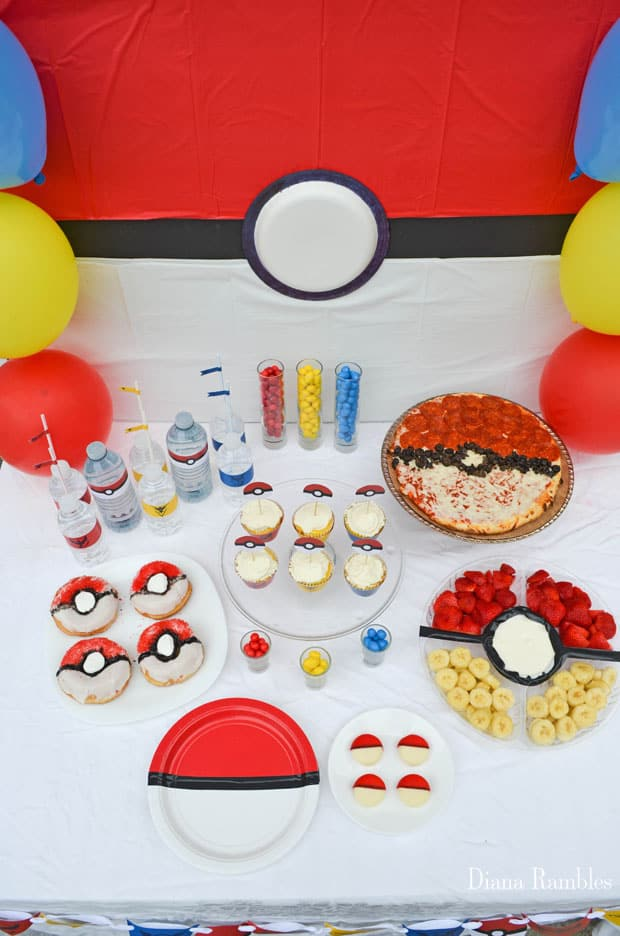 Pokémon GO Party with free printables and food