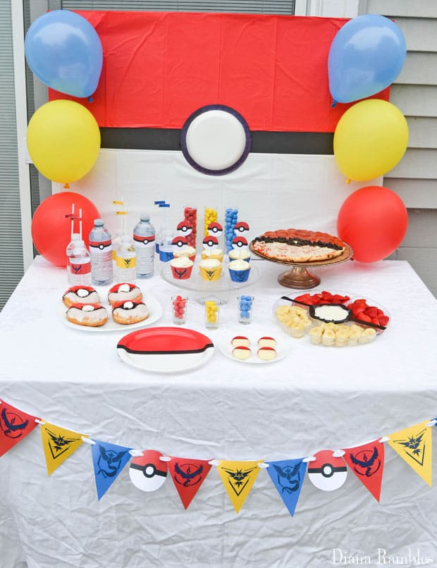 Pokémon GO Party Set Up