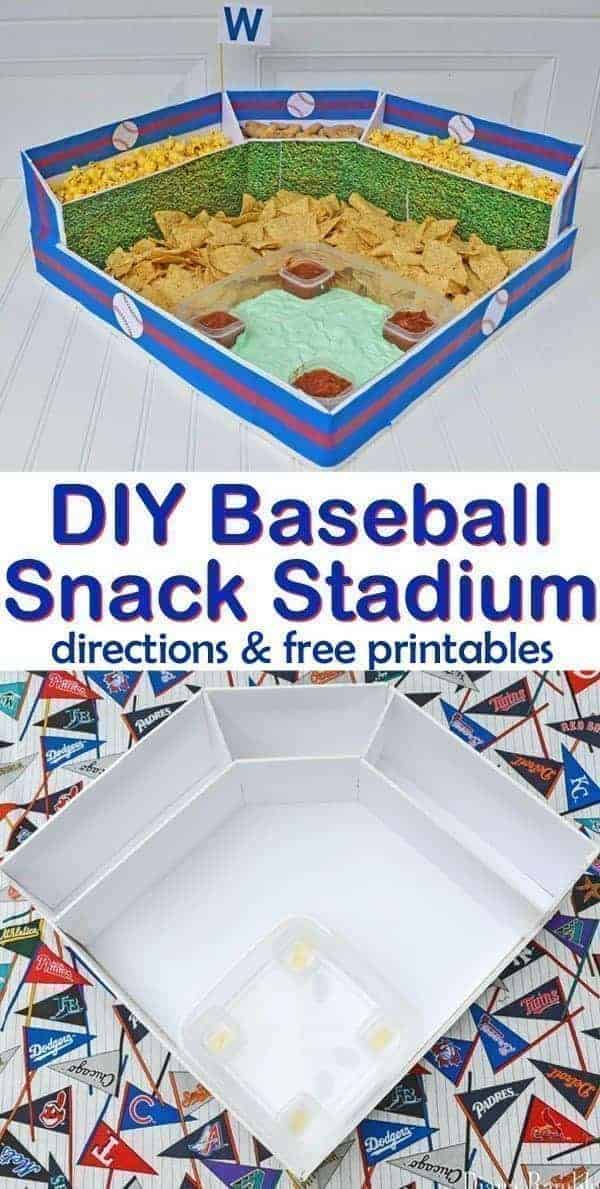 See how easy it is to make a Baseball Snack Stadium for all your game day baseball playoffs celebrations. Perfect for a world series viewing party!