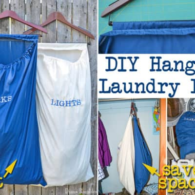 DIY Hanging Laundry Bags