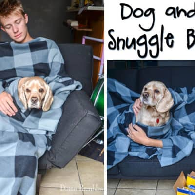 DIY Dog and Me Snuggle Blanket
