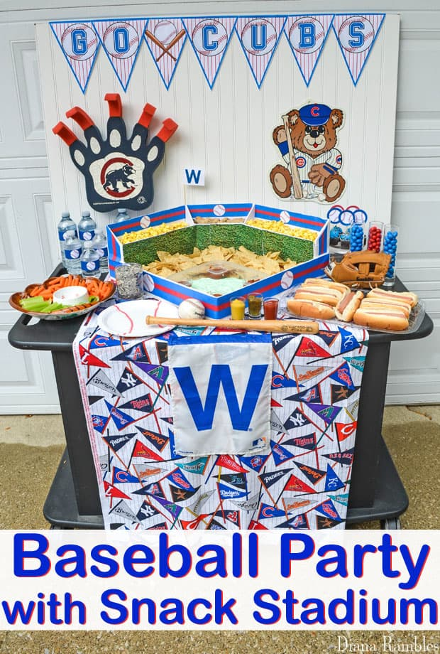 graphic regarding Printable Cubs W Flag named Host a Baseball Get together with this Snack Stadium and No cost