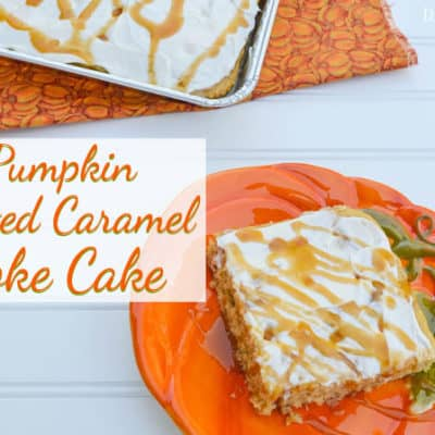 Pumpkin Salted Caramel Poke Cake