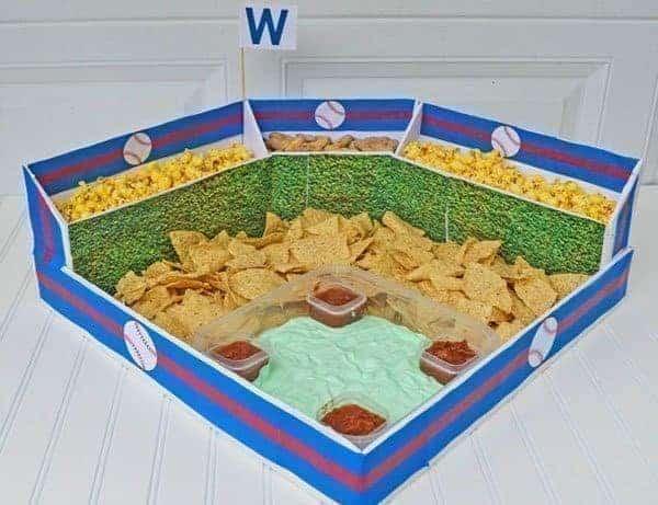 DIY Baseball Snack Stadium