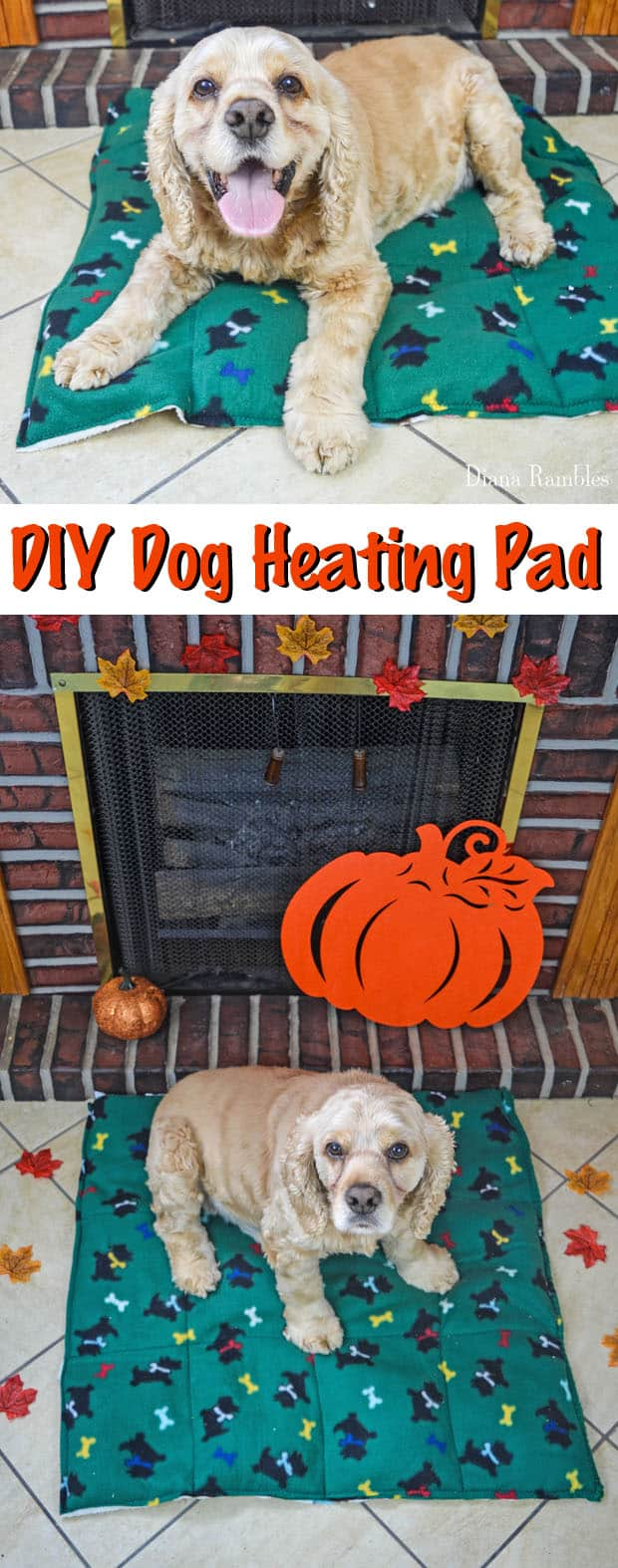DIY Dog Heating Pad Tutorial - Make this Dog Heating Pad to keep your pooch warm during the cold of the winter. Your pet will love this heating bed.