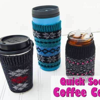 DIY Instant Sock Coffee Cozy