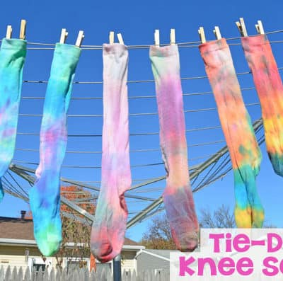 DIY Tie-Dye Knee Socks Tutorial