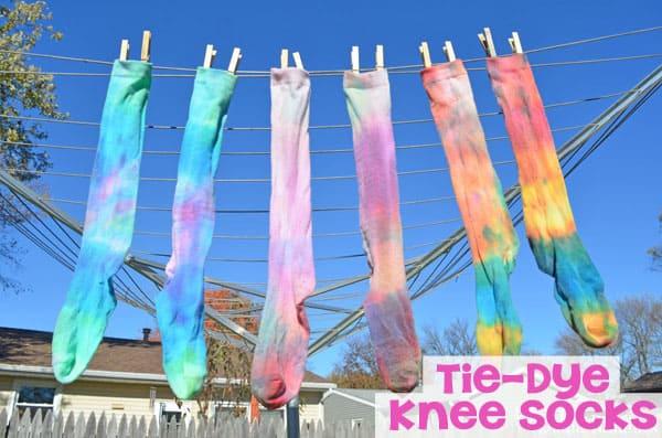 DIY Tie-Dye Knee Socks Tutorial