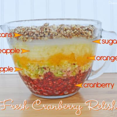 The Best Fresh Cranberry Relish