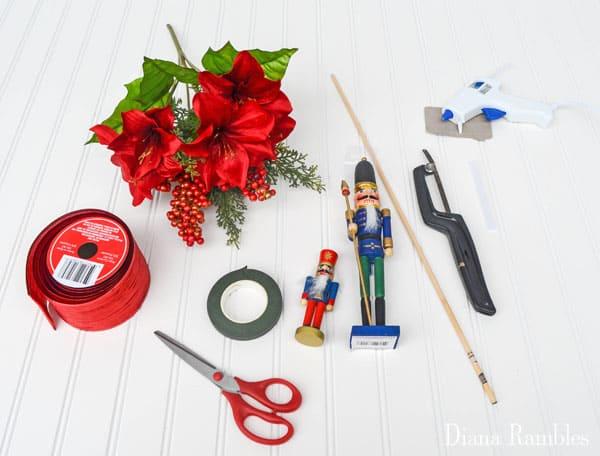 DIY Nutcracker Ballet Bouquet Supplies