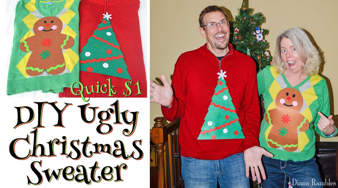 Diy Ugly Christmas Sweater Made In Minutes For Only 1