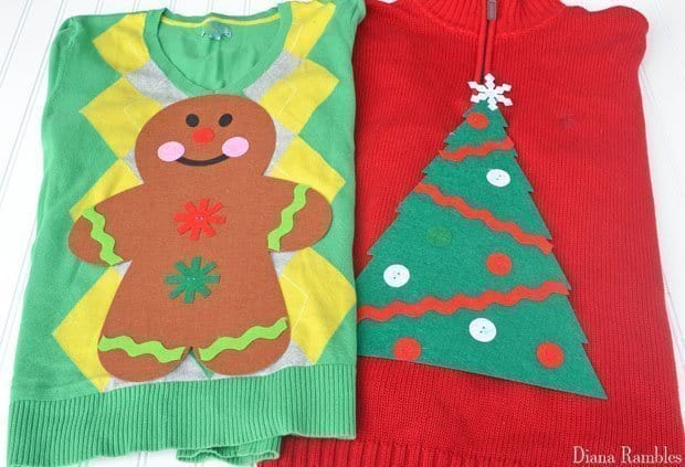Quick $1 DIY Ugly Christmas Sweater