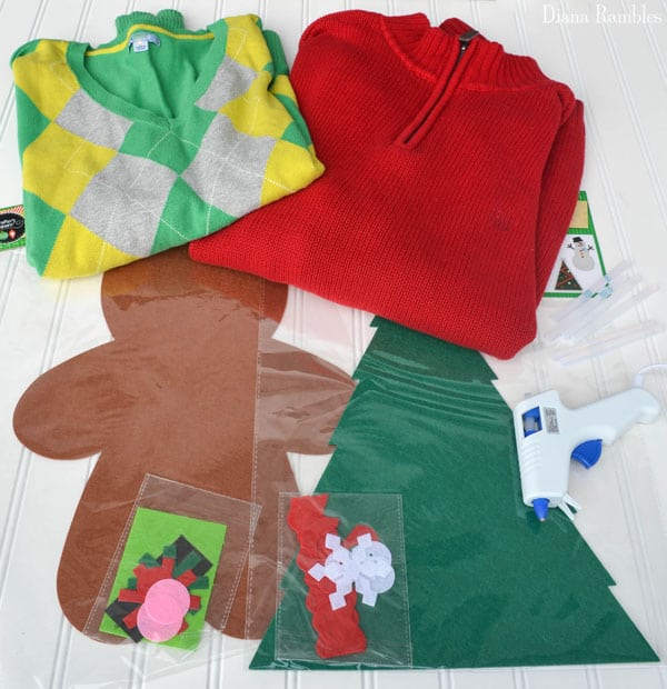 Diy Christmas Tree Sweater: DIY Ugly Christmas Sweater Made In Minutes For Only $1